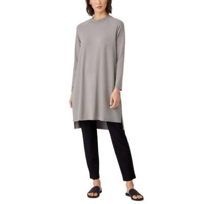 エイリーンフィッシャー レディース ワンピース トップス Raglan-Sleeve Dress