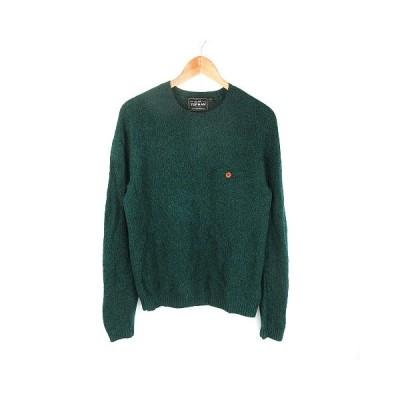 【中古】トップマン TOPMAN ニット セーター 長袖 ミックスカラー S 緑 グリーン /CK メンズ 【ベクトル 古着】