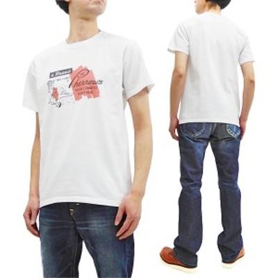 フェローズ Tシャツ Pherrows Pherrows ハワイ柄 メンズ 半袖tee 21S-PT10 ホワイト 新品