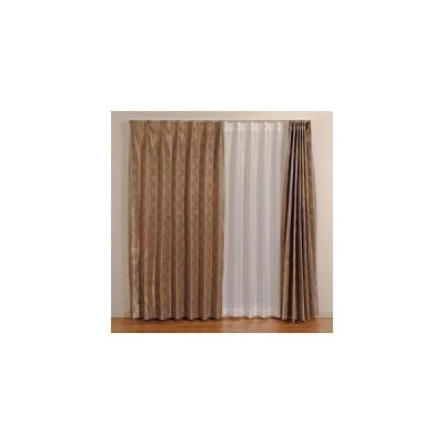 ユニベール 遮光ドレープカーテン フロスト 100×178cm ブラック 2枚入 (1334115)