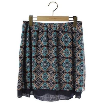スカート 総柄フレアスカート