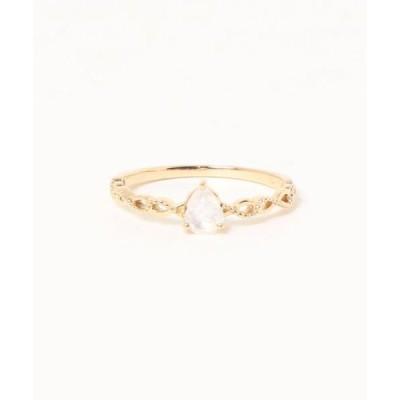 指輪 【ESTELLE/エステール】6月誕生石 K10 イエローゴールド ブルームーンストーン リング