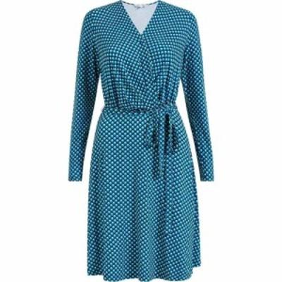 ユミ Yumi レディース ワンピース ラップドレス ワンピース・ドレス Blue Geometric Jersey Wrap Dress Blue