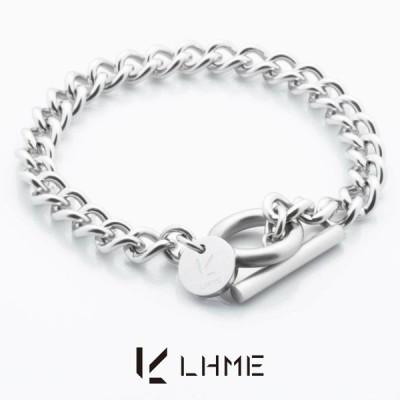 LHME リンクチェーンブレスレット/TYPE A/サージカルステンレス [エルエイチエムイー] 2BR001A (手首周り16cm)Tバー&マンテル