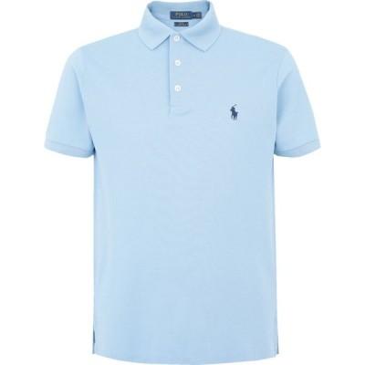 ラルフ ローレン POLO RALPH LAUREN メンズ ポロシャツ トップス slim fit mesh polo shirt Sky blue