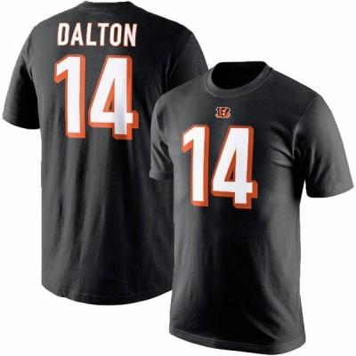 ベンガルズ アンディ・ダルトン NFL Tシャツ ネーム&ナンバー エリジブルレシーバー3 マジェスティック/Majestic ブラック【OCSL】