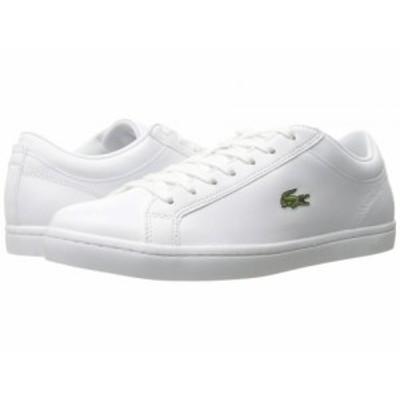 Lacoste ラコステ メンズ 男性用 シューズ 靴 スニーカー 運動靴 Straightset BL 1 White【送料無料】