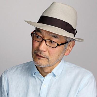 中折れ帽 春夏 メンズ シンプル ハット バーズアイ DAKS ダックス 中折れ 帽子 レディース 日本製 ベージュ