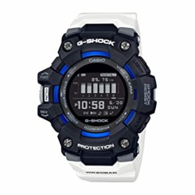 腕時計  Casio G-Shock GBD100-1A7 G-Squad Power Trainer Series Mens Digital Black/White/Blue Watch