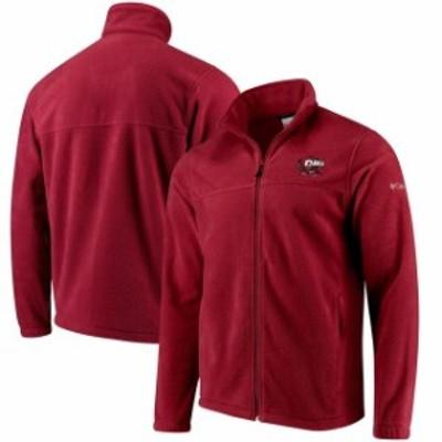 Columbia コロンビア スポーツ用品  Columbia Temple Owls Flanker Full Zip Fleece Jacket - Cherry