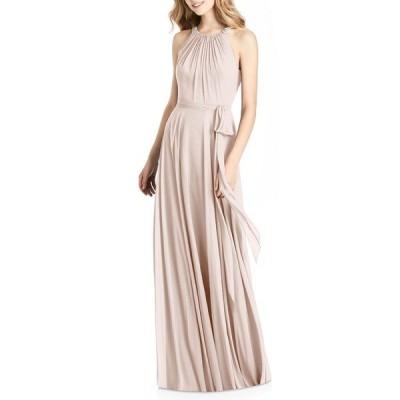 ジェニー・パッカム ワンピース トップス レディース Crystal Strap Chiffon A-Line Gown Blush