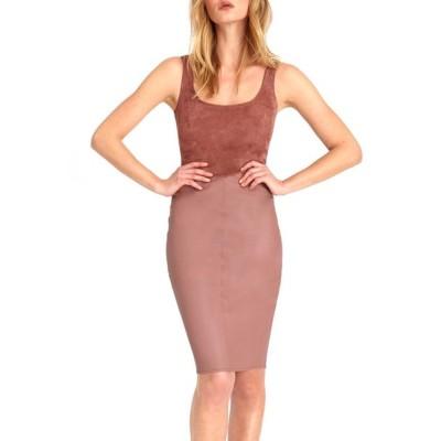 エーエスバイディーエフ レディース ワンピース トップス Lynn Stretch Leather Dress