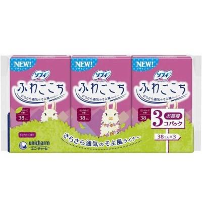 ユニチャーム ソフィ ふわごこちピンクローズの香り 38枚×3 ソフィフワゴコチロズ38X3(38