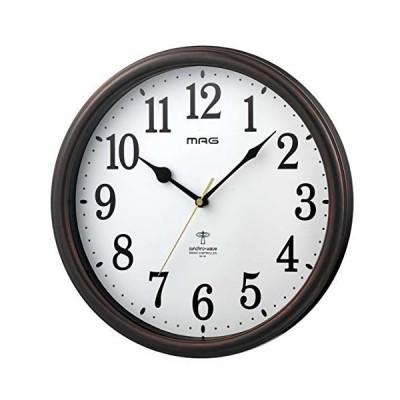 MAG(マグ) 掛け時計 電波 ブラウン 直径31cm アナログ ネメシス 連続秒針 W-741BR-Z