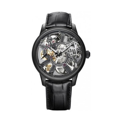 Maurice Lacroix/モーリス・ラクロア メンズ 腕時計 Masterpiece Squelette Black Skeleton Dial メンズ Hand Wind Watch MP7228-PVB01-002