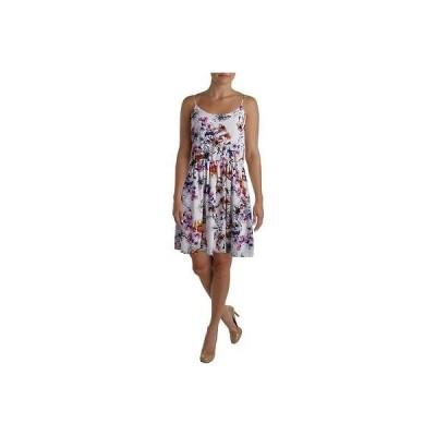 ドレス 女性  アクア アクア 8341 レディース ノースリーブ フローラル プリント Scoop Neck Sunドレス