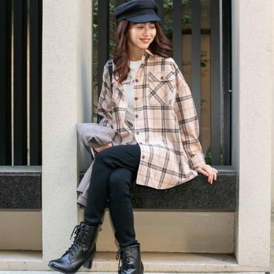 トップス シャツ ブラウス ファッション レディース オシャレ コットン チェック スーパー シャツ 定番アイテム 人気