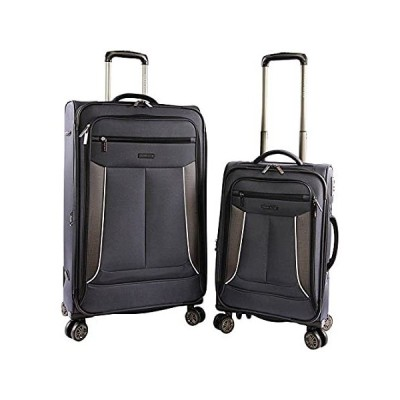 Perry Ellis Luggage Viceroy 2 Piece Set Expandable Suitcase with Spinner Wh