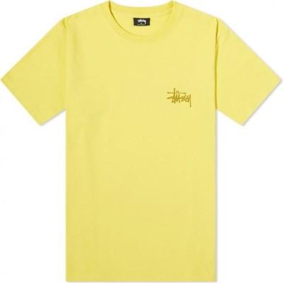 ステューシー Stussy メンズ Tシャツ トップス Basic Tee Lemon