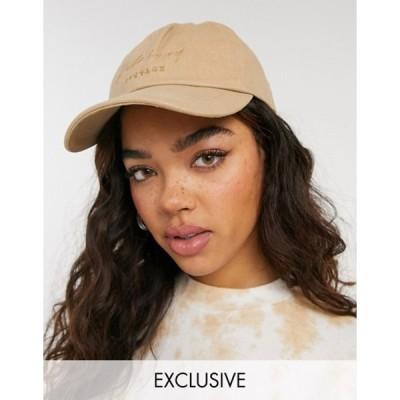 リクレイム ヴィンテージ レディース 帽子 アクセサリー Reclaimed Vintage Inspired set cap in stone
