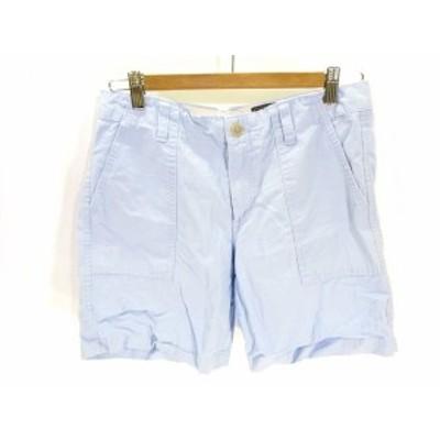 【中古】ギャップ GAP ベイカー パンツ ショート パンツ 水色 ライトブルー 2 レディース