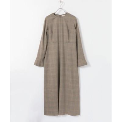 【アーバンリサーチ ロッソ】 AVERY ROW FLARE LONG DRESS レディース CHECK 38 URBAN RESEARCH ROSSO