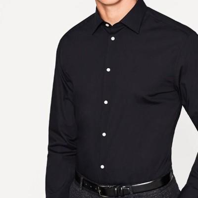 エスプリ メンズ ファッション SOLID - Formal shirt - black