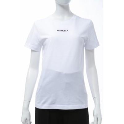モンクレール MONCLER Tシャツ 半袖 丸首 クルーネック ホワイト レディース (8C7A610 829FB) 送料無料 2021年春夏新作 2021SS_SALE