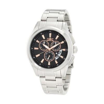 メンズ 腕時計 インヴィクタ New Mens Invicta 1976 Chronograph Black Dial Stainless Steel Watch