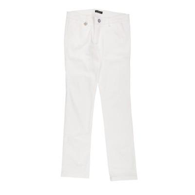 CARLO PIGNATELLI パンツ ホワイト 9 コットン 97% / ポリウレタン 3% パンツ