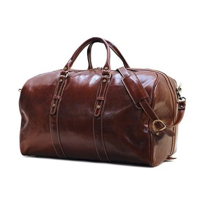 Floto Luggage Venezia Grande Duffle Bag, Vecchio Brown, One Size 並行輸入品