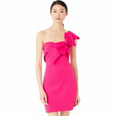 バッジェリー ミシュカ Badgley Mischka レディース ワンピース ミニ丈 ワンピース・ドレス Strapless Bow Mini Hot Pink