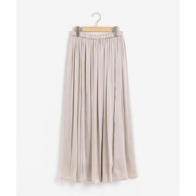 スカート 楊柳シャイニーロングスカート