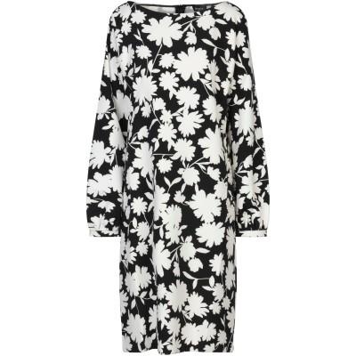 EMME by MARELLA ミニワンピース&ドレス ブラック 46 ポリエステル 90% / ポリウレタン 10% ミニワンピース&ドレス