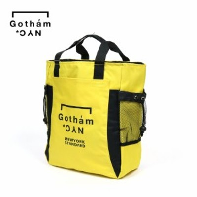 GOTHAM NYC ゴッサムニューヨーク エヌワイシー GN547 LOGO-2WAY BACKPACK YELLOW トートバック リュック バックパック
