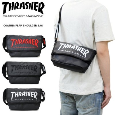 THRASHER スラッシャー バッグ COATING FLAP SHOULDER BAG ショルダーバッグ メッセンジャーバッグ マグロゴ BAG バッグ THR-150