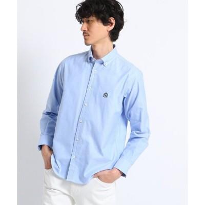 シャツ ブラウス 【抗菌防臭/Sサイズ〜】クラッシックワンポイントオックスボタンダウンシャツ