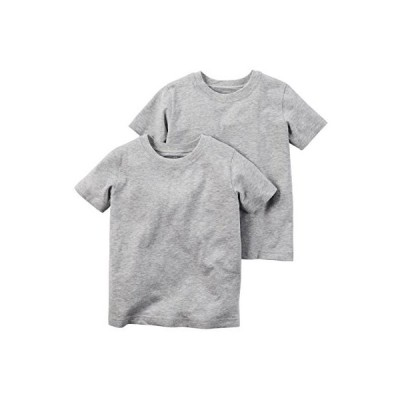 Carters Boys 2pack Shortsleeve Cotton Undershirts Tee Set 8, Grey D31G107 /