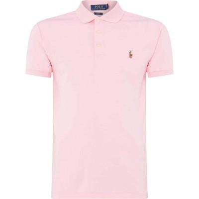 ラルフ ローレン Polo Ralph Lauren メンズ ポロシャツ 半袖 トップス Short Sleeve Knitted Polo Shirt Pink
