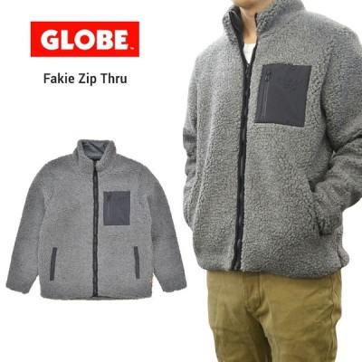 GLOBE グローブ ジャケット FAKIE ZIP THRU JACKET フリースジャケット ボアジャケット 長袖 GB01937005  バーゲン