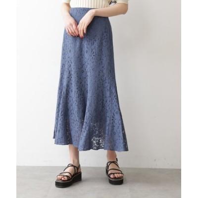 ◆《Sシリーズ対応商品》三角マチレースマーメイドスカート