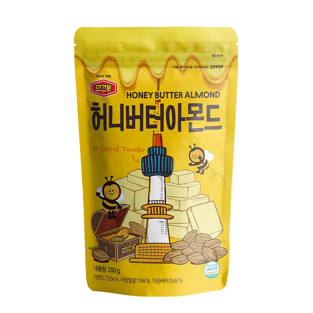 韓國正宗Murgerbon蜂蜜奶油風味-杏仁果200g