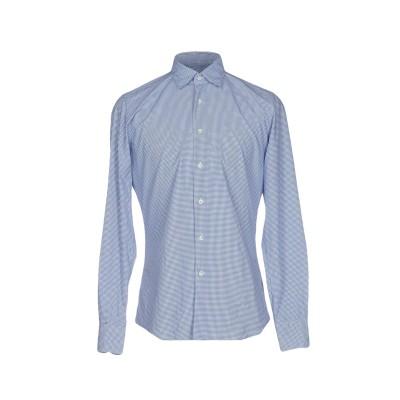 グランシャツ GLANSHIRT シャツ アジュールブルー 38 コットン 100% シャツ