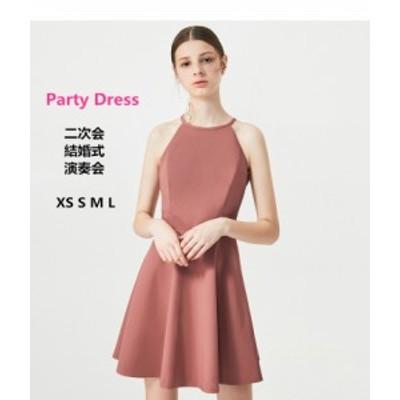 パーティードレス ウェディングドレス 着痩せ ワンピース おしゃれ Aライン 二次会 ドレス ミニ ドレス 忘年会 披露宴 お呼ばれドレス