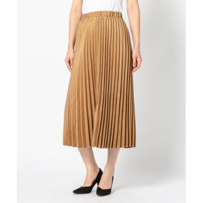 【ミューズ リファインド クローズ】 フェイクスエードプリーツスカート レディース キャメル M MEW'S REFINED CLOTHES