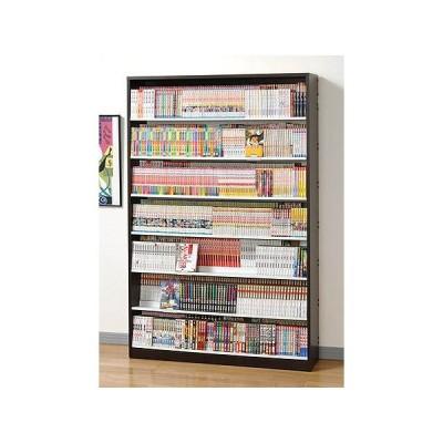 CMS1190 CMS1190N CMS1190D ダーク ナチュラル AUX 段違い コミックラック 本 シェルフ 書庫 本棚 本箱 収納 DVD CD 薄型 コンパクト 大量 大容量 幅120cm以下