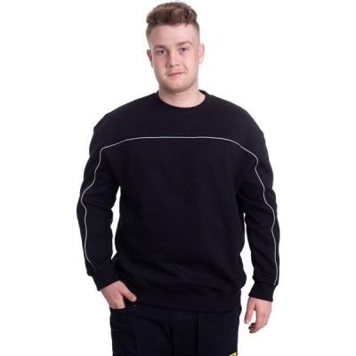 アーバンクラシックス Urban Classics メンズ スウェット・トレーナー トップス - Reflective Crew Black - Sweater black