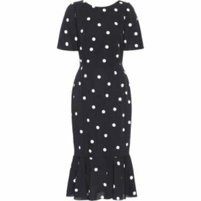 ドルチェandガッバーナ Dolce and Gabbana レディース ワンピース ミドル丈 ワンピース・ドレス Polka-dot silk-charmeuse midi dress Po