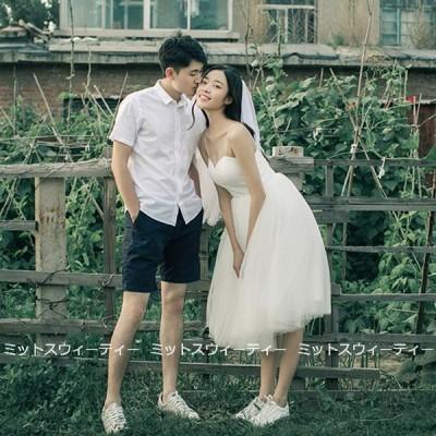 ウェディングドレス 二次会 リゾートドレス ミニドレス 結婚式 ブライダル 前撮り キャミソール 花嫁 パーティードレス ワンピース ガーデンフォト シンプル