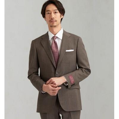 【グリーンレーベルリラクシング/green label relaxing】 [ 御幸毛織 ] 撚杢 無地 2B SG NT HP- スーツ ジャケット